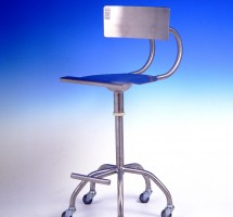 silla metalica con ruedas